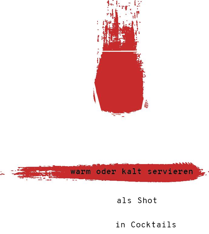 Illustrierte Trinkempfehlung für den Zimtschnaps
