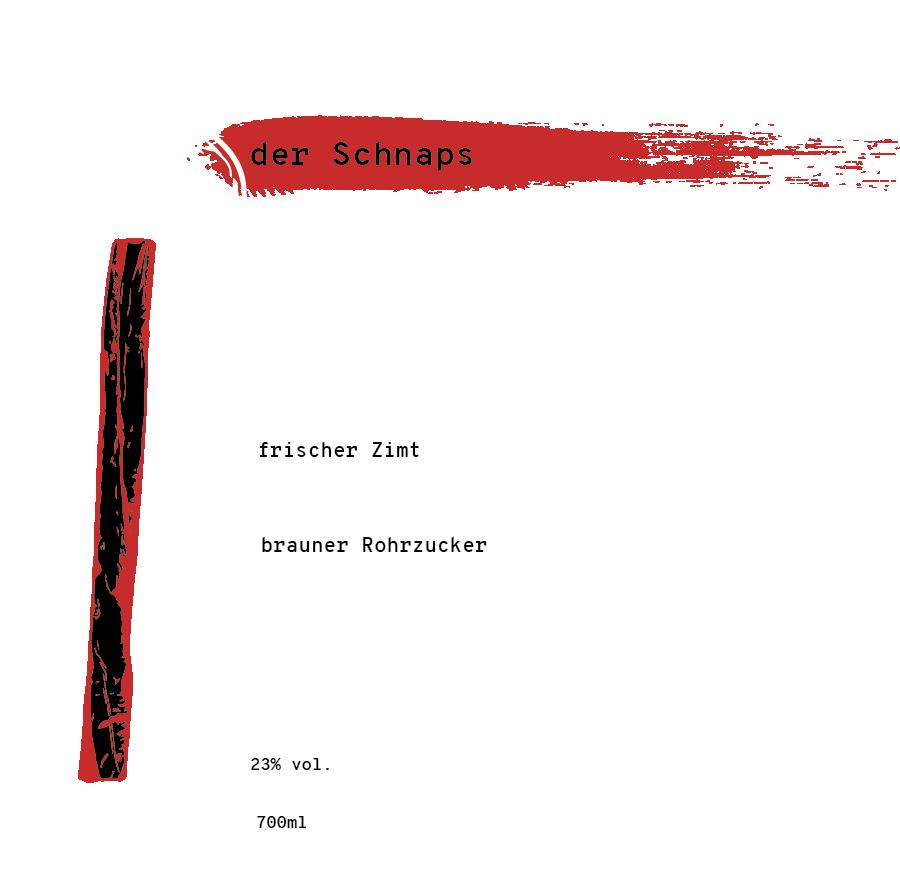 Illustrierte Zutatenliste für den Zimtschnaps